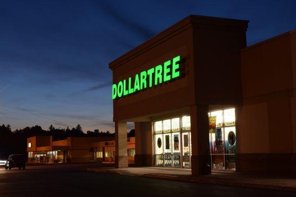 Dollar Tree store at the Wayne Heights Mall shopping center in Waynesboro, Pennsylvania.