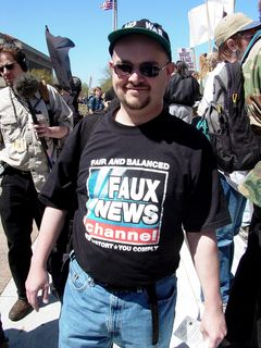 While the media covered the protest, protesters also criticized the media.