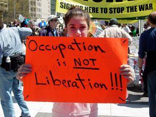 This is what liberation is NOT... occupation is not liberation, and even more importantly, don't kill me and call it liberation.