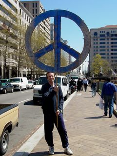 """My first comment upon seeing this was, """"That's the biggest peace sign I've ever seen!"""" It certainly gets the point across,that's for sure!"""