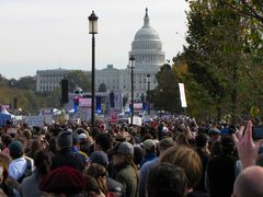 Crowds on the Mall.