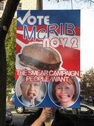 A sign pokes fun at the Senate race in Nevada, where Sharron Angle ran against incumbent Senator Harry Reid.