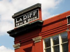 Sign for La Difference, a furniture store in the Shockoe Bottom neighborhood.