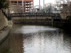 Eastward view of the Canal. A Dominion Virginia Power substation is visible at right.