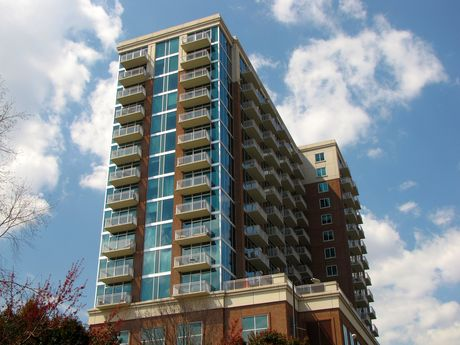 Residential tower across from the turning basin.