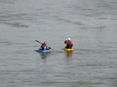 Kayakers on the James River.