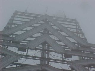 And the peak of the star stands tall, trying its best to show itself to me despite the fog.