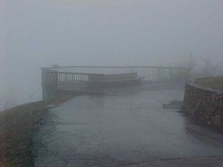Meanwhile, on the overlook in front of the star, you can't see a thing.
