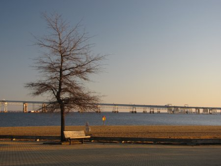 Sandy Point State Park, viewed from the paved area in late afternoon