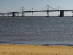 Chesapeake Bay Bridge, viewed from South Beach.