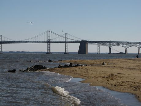 Southeast corner of the park, with the Bay Bridge visible in the distance.