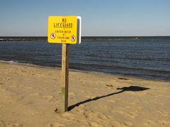 Signage on East Beach.