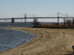 East Beach. The Bay Bridge is visible in the distance.