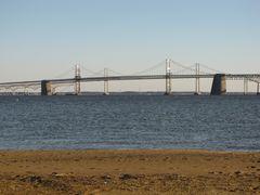 The Chesapeake Bay Bridge, viewed from South Beach.