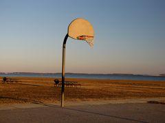 Basketball court near the western end of South Beach.