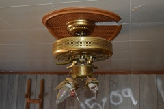 Remains of a ceiling fan in the family room