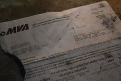 Maryland Motor Vehicle Administration registration renewal notice for a 1989 Ford F-350 truck