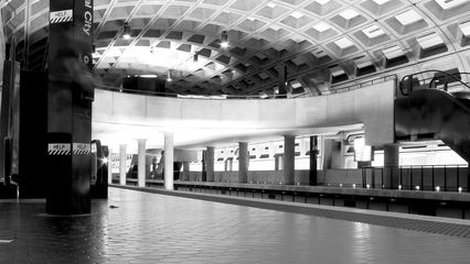 On the other hand, the platforms at Crystal City were practically deserted.