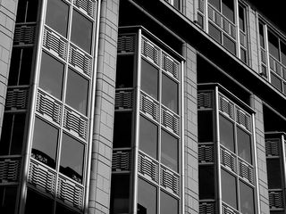 ...other buildings display a decidedly more modern flair.