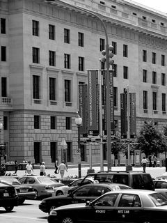 Around the plaza, however, traffic along Pennsylvania Avenue NW is constant.