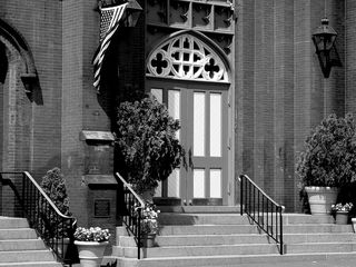 The entrance to the church is no less ornate.
