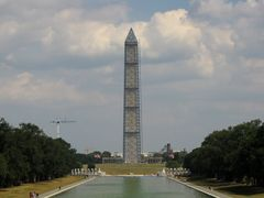 West side of the monument, viewed from the plaza in front of the Lincoln Memorial.