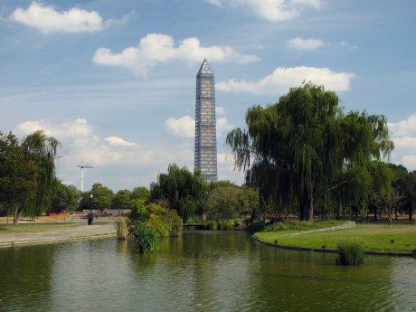 Northwestern view from Constitution Gardens.