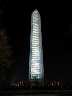 East side of the Washington Monument.