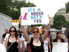 """It's a dress, not a yes"""