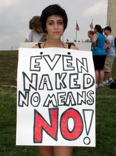 """""""Even naked, no means NO!"""""""