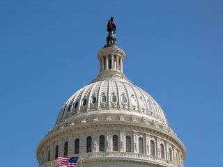 Crowning the dome is the Statue of Freedom.