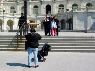 As well as housing our legislative bodies, the Capitol has great symbolic value to our nation, making it a popular place for tourists to have their pictures taken.