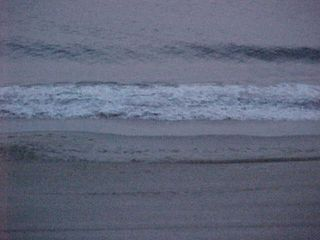 And the waves crash against the beach.