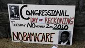 A sign advocates for change at the 2010 midterm elections.