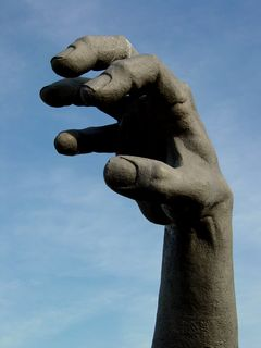 The most visible part of The Awakening is the statue's right arm. It is the tallest part of the statue. According to a few folks I encountered, there are some people daring enough to actually climb up to the hand.
