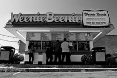 Weenie Beenie, once a chain of fast food restaurants, now down to only the original location, off of Shirlington Road in Arlington, Virginia.