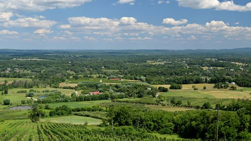 View from the patio at Dirt Farm Brewing in Bluemont, Virginia, facing approximately east.