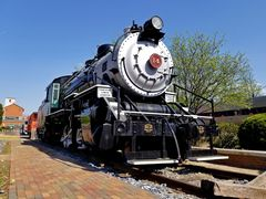 BC&G Consolidation #14, on static display at the train station in Gaithersburg, Maryland.
