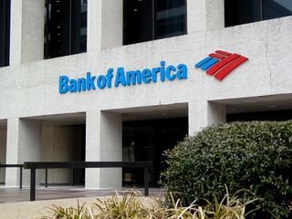 The entrance to the Bank of America Building is similar to the Dominion Building in Richmond, as it's set back from the street, and contains a raised plaza around the building.