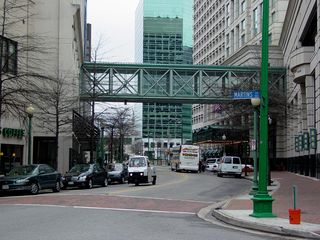 And more skywalks are found throughout Norfolk's business district...