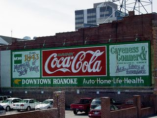 Roanoke also has charm with the restored advertisements painted on some of the buildings' walls.