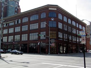 While some banks are in large high-rise buildings, First Virginia Bank makes its home in this attractive low-rise building.