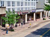 June 1, 2008: Street level during asbestos abatement phase, North Moore Street side.