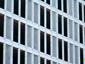 June 13, 2008: East facade, devoid of windows.