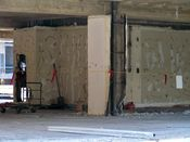 August 6, 2008: Mid-level floor interior, viewed from the southeast.