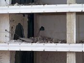 September 27, 2008: Rubble on a floor slab on the building's west side.