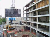 September 27, 2008: West side of building, showing plaza.