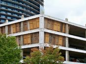 September 27, 2008: Southeast corner, showing fourth, fifth, and sixth floors.