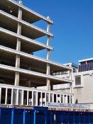 October 4, 2008: North end of building, east side.