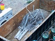 October 4, 2008: Scrap metal in one of the dumpsters on site.